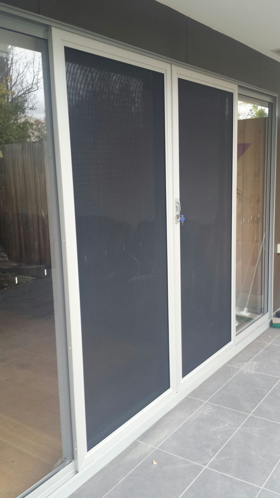 Aluminium frame security sliding doors with stainless ...