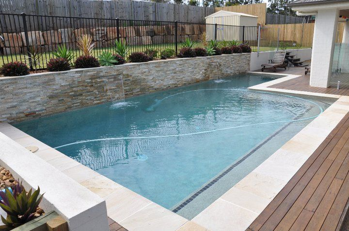 How much does it really cost to build a concrete pool in for Pool design retaining wall