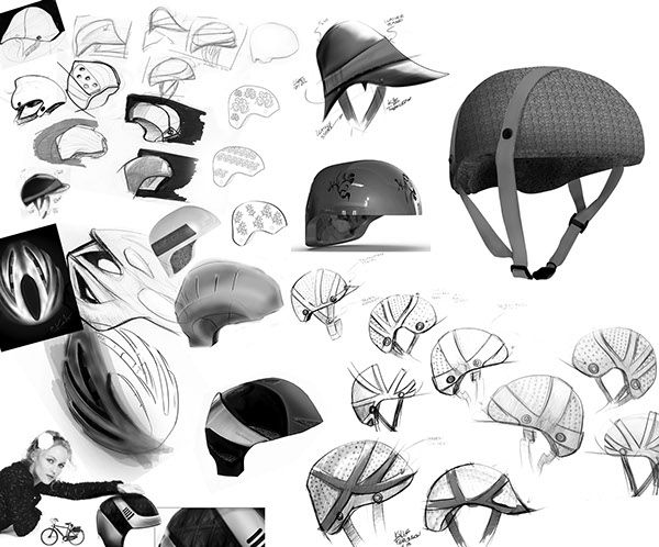 Cork Bicycle Helmet Concept For Lacoste On Behance Helmet