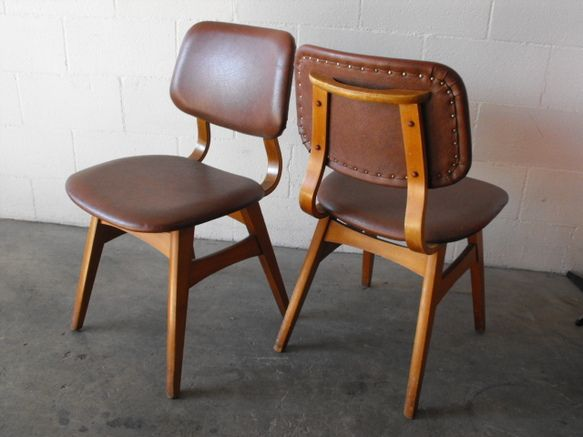 Pair of  Danish Modern Dining Chairs
