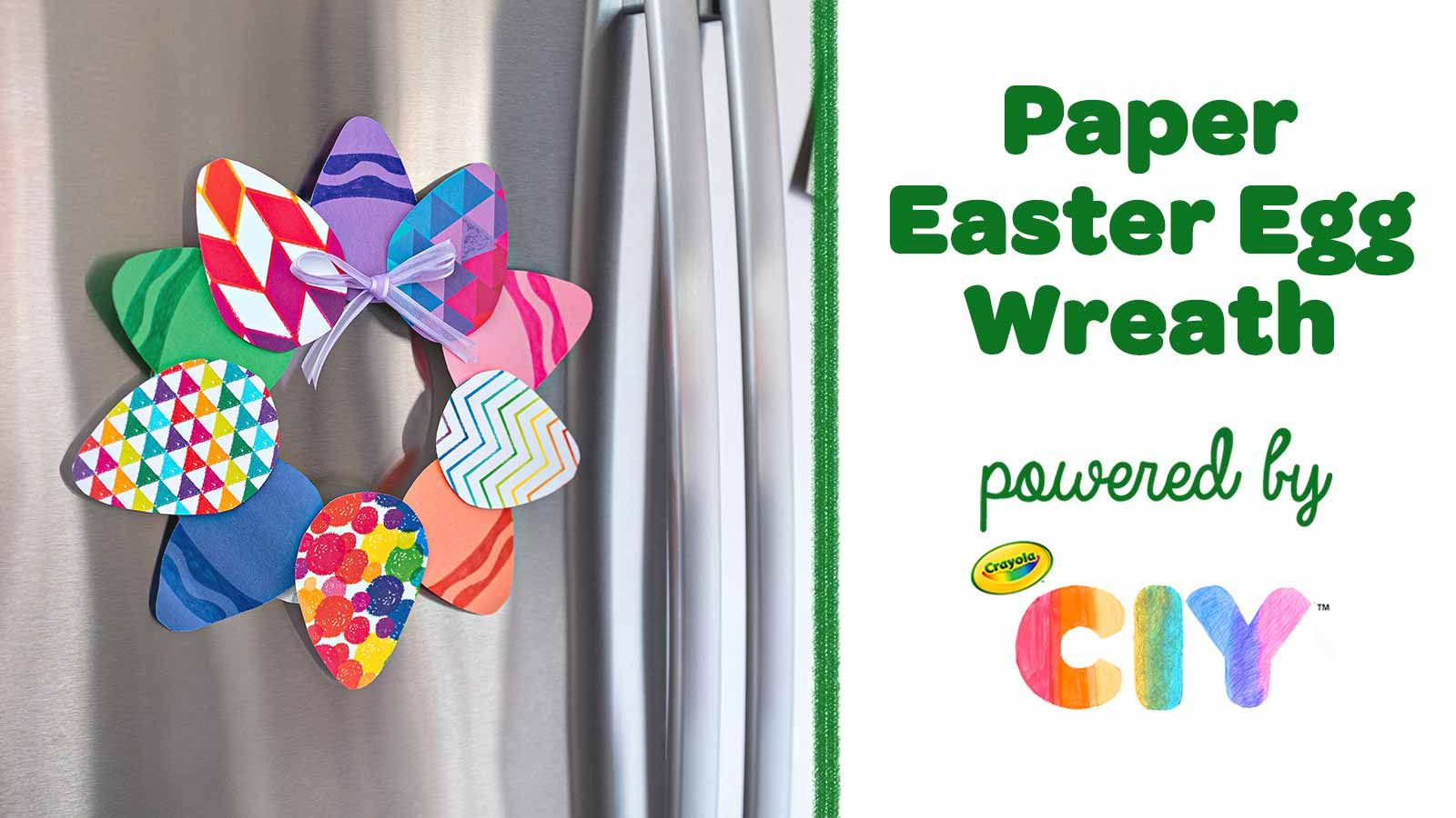 Photo of Paper Easter Egg Wreath