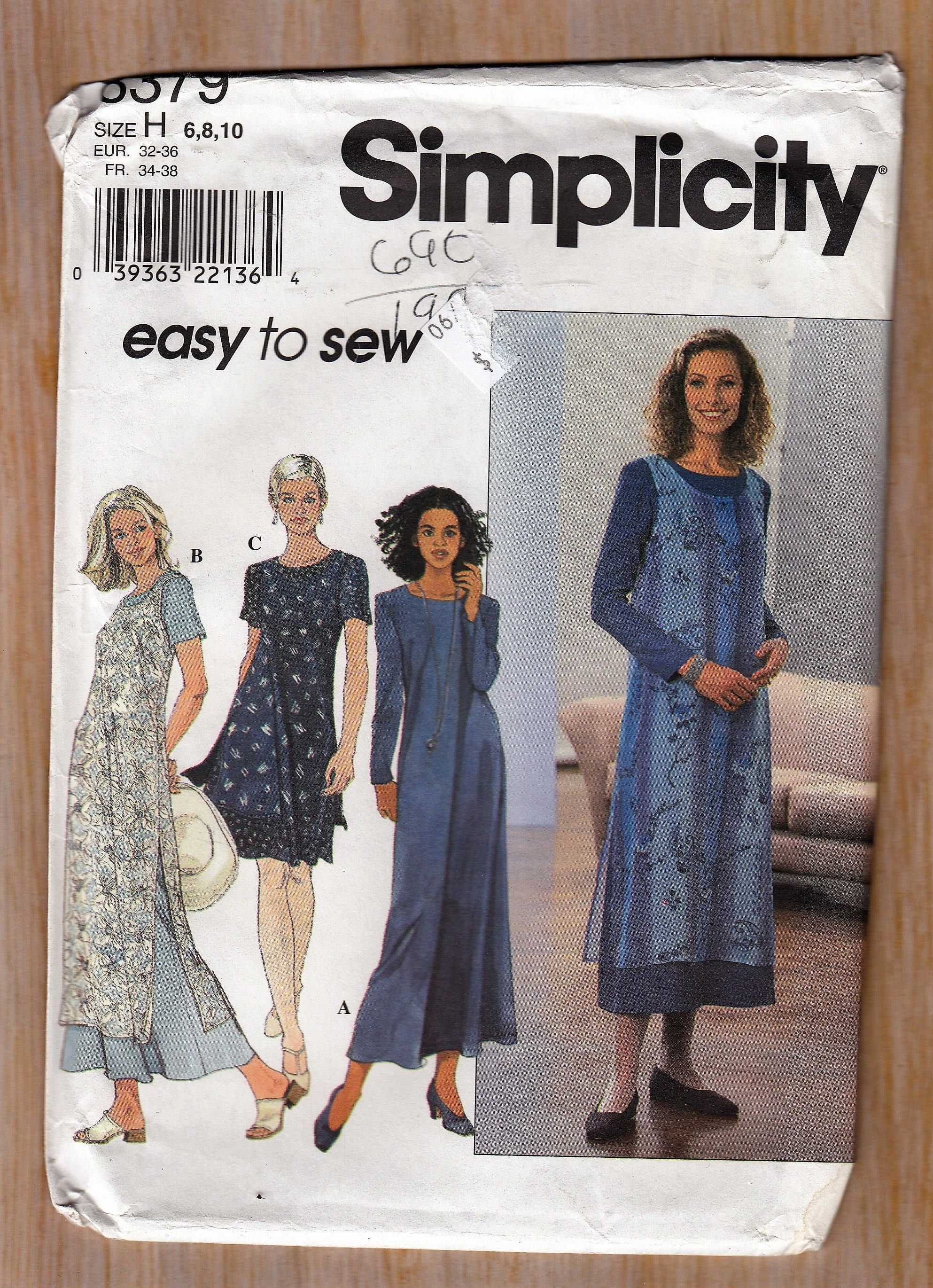 Dress in two lengths jumper or overdress womens sewing pattern dress in two lengths jumper or overdress womens sewing pattern simplicity 8379 size 6 8 jeuxipadfo Choice Image