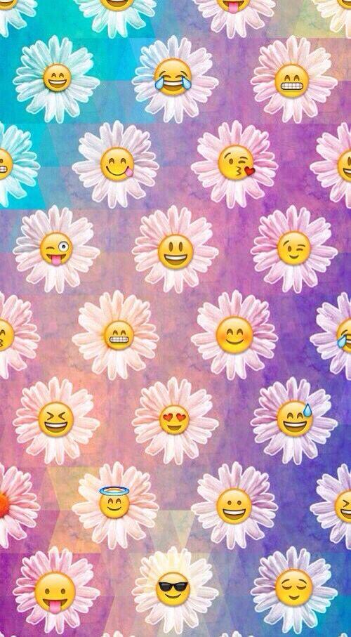 Emoji daisy wallpaper | iPhone wallpaper in 2019 | Daisy