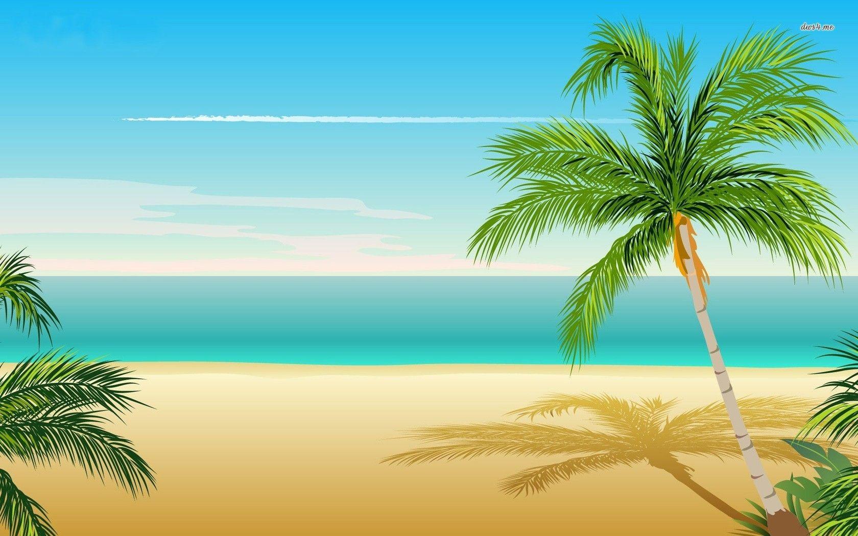 Palm Tree Background iPhone 6 Wallpaper 22011 Beach