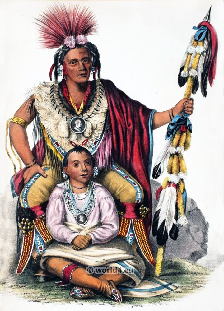 American Indian Seminole Chief Osceola Indians Repro Print on Canvas or Paper