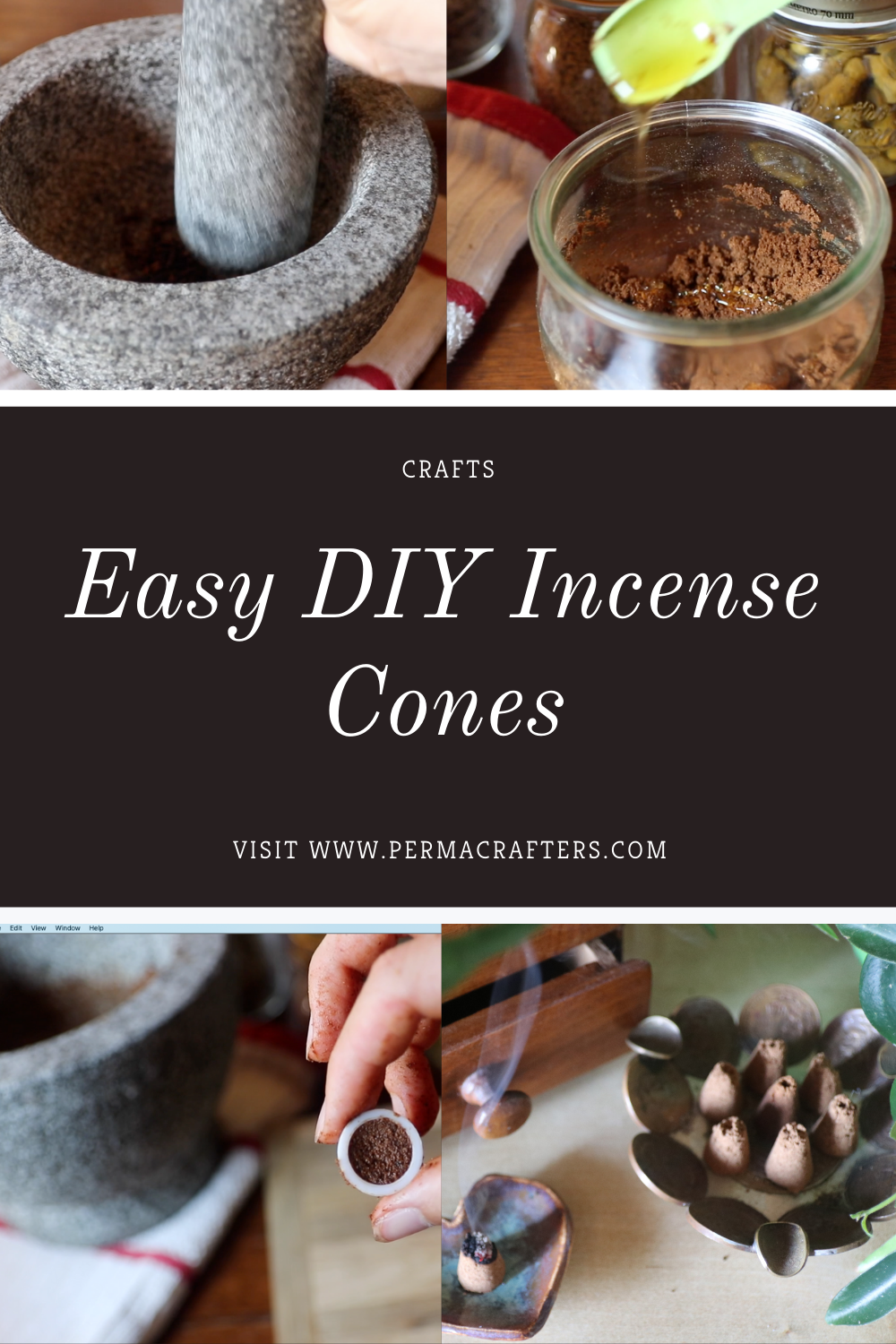 Pin On How To Make Incense Cones Diy