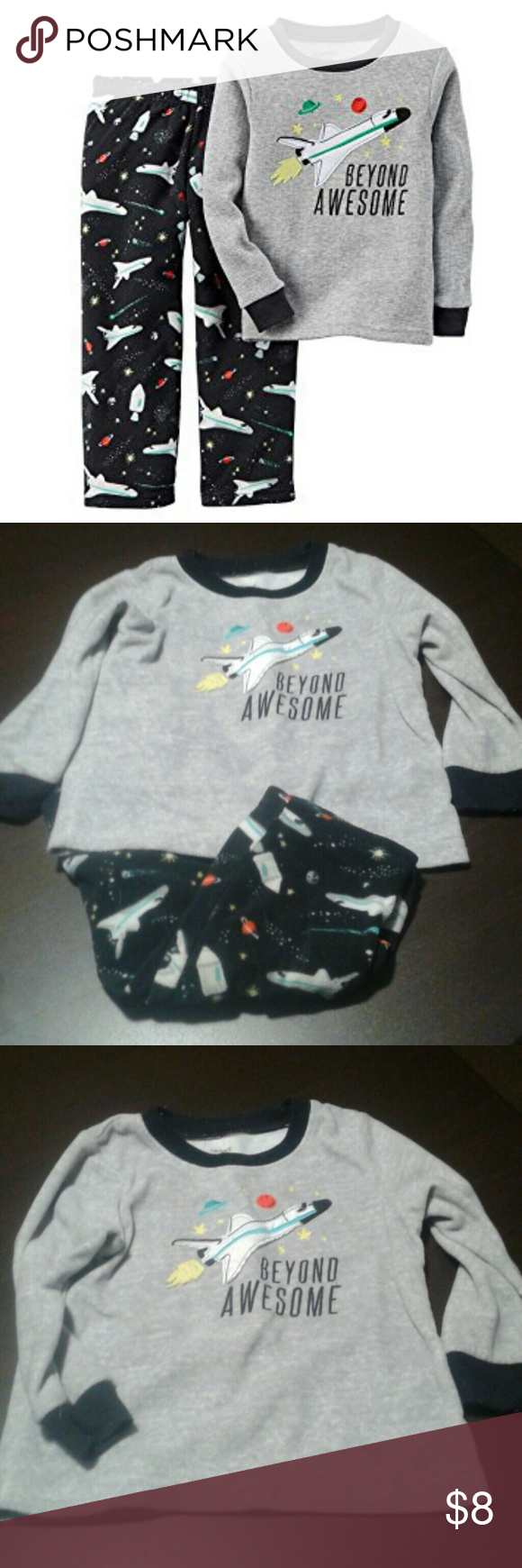 204bf540db57 Carter s Boy Space Rocket Fleece 2 Piece PJ Set-2T Carter s Boy ...