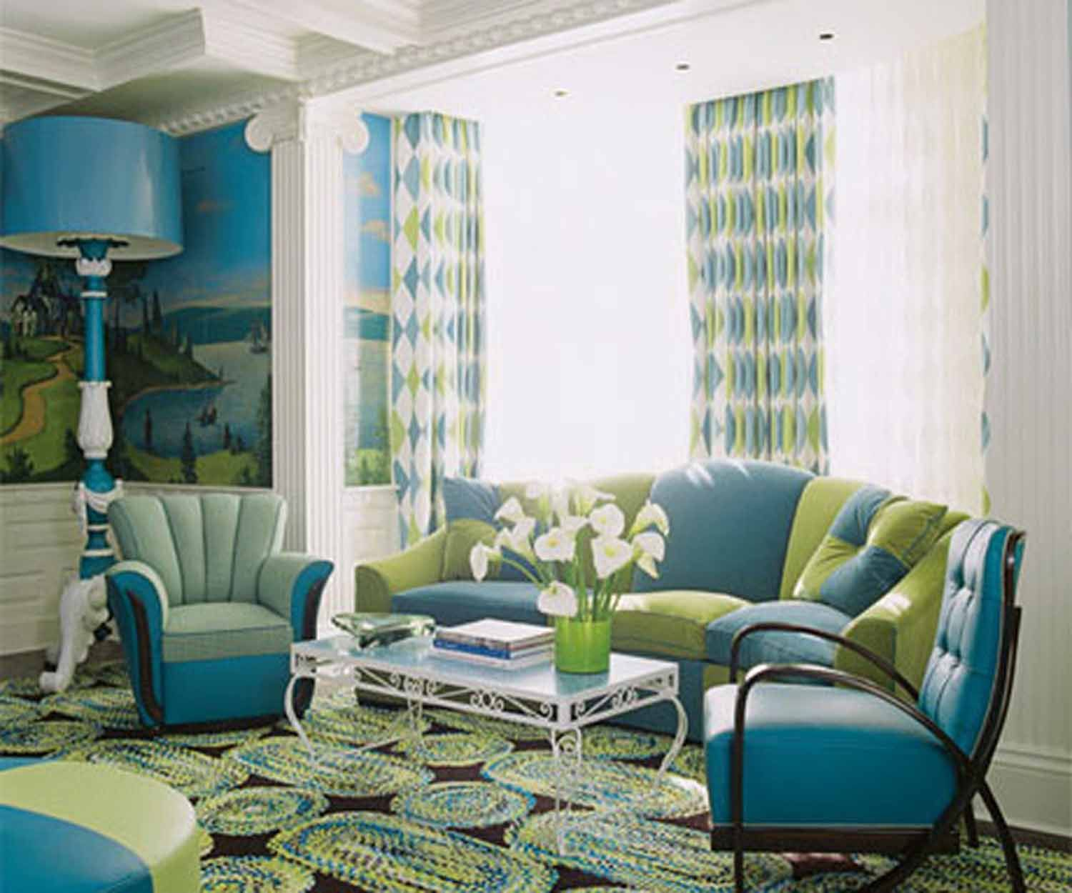 Living Room Green And Blue Rooms 1000 images about home decor on pinterest green living rooms blue and rooms