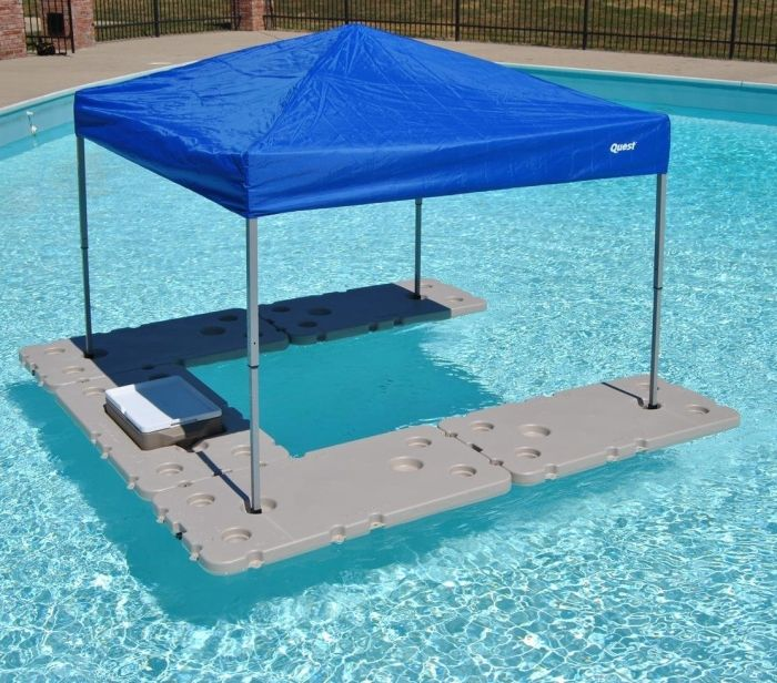 I Want This 5 Piece Bar Assembly With Canopy Mounts Pool Shade Above Ground Pool Landscaping Pool Bar