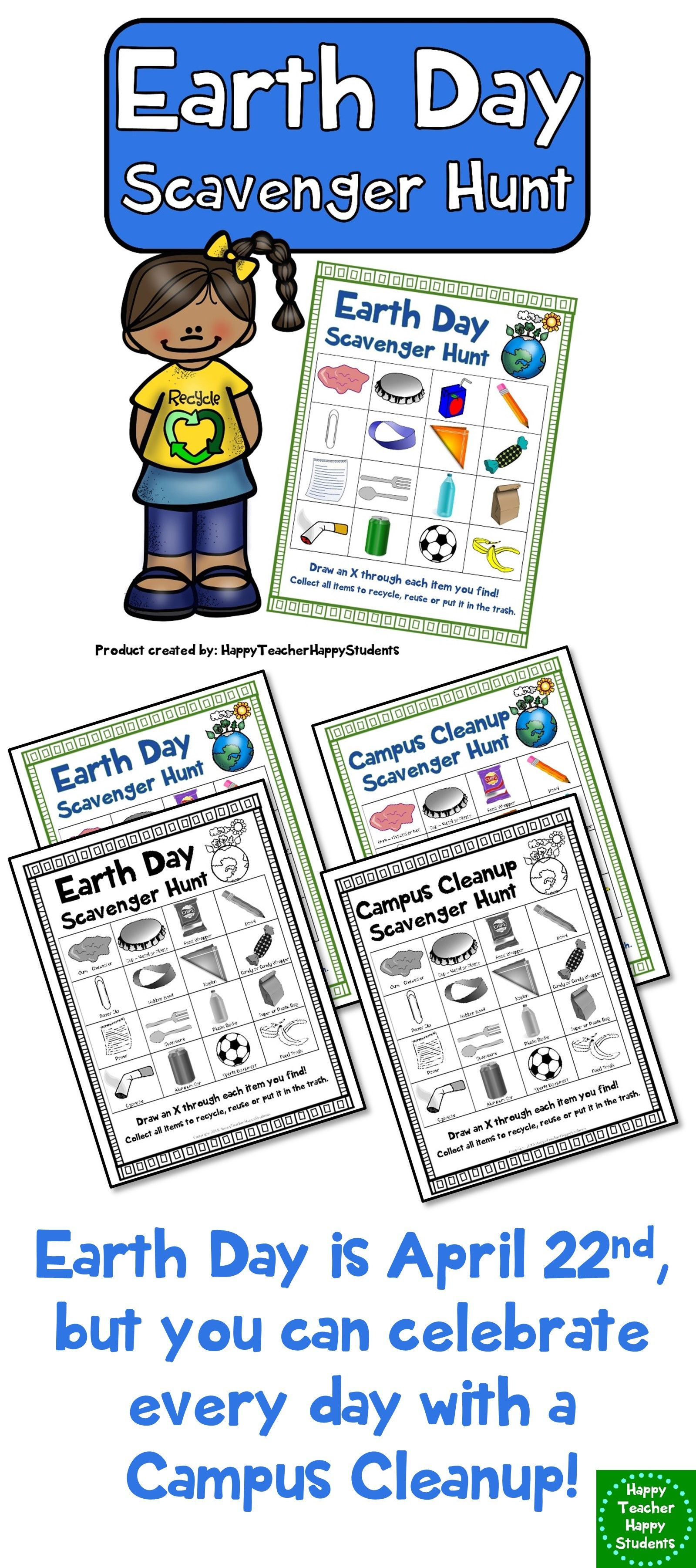 Earth Day Scavenger Hunt A Fun Earth Day Activity Earth