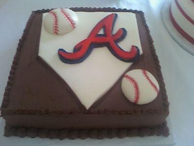 Atlanta Braves Grooms Cake Baseball Mlb Grooms Cake Atlanta Braves Cake Cake