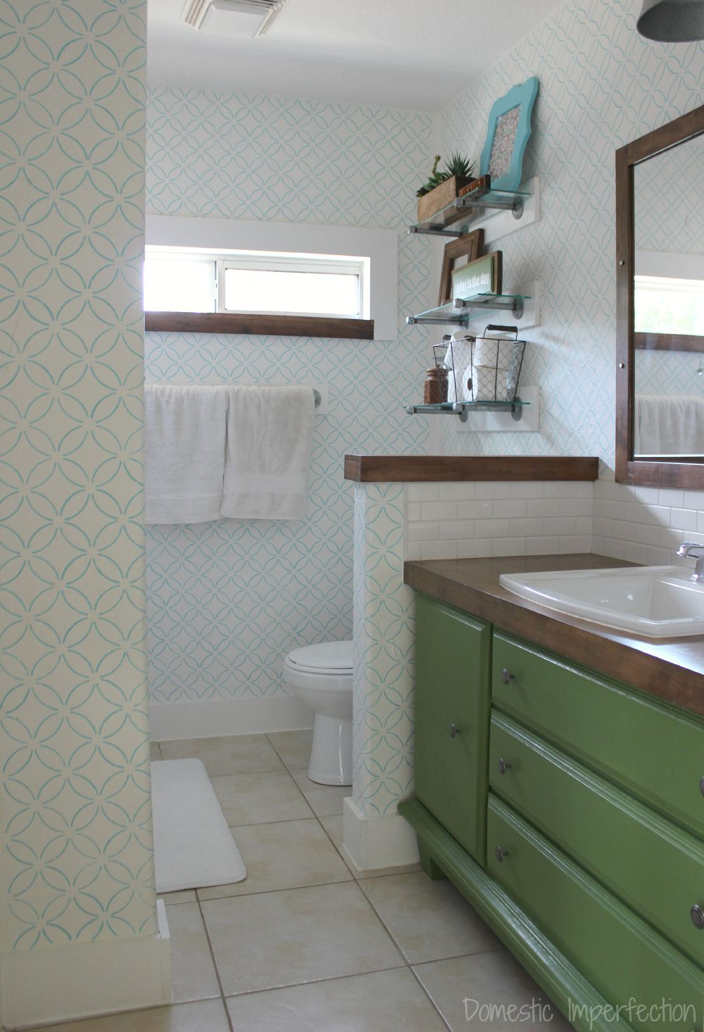 DIY Bathroom Remodel For About $800! Such A Huge Transformation! (Link  Includes Tutorials