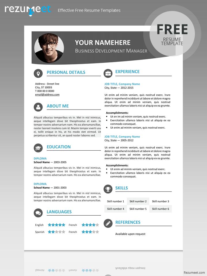 Free Modern Resume Template  Kkk    Modern Resume
