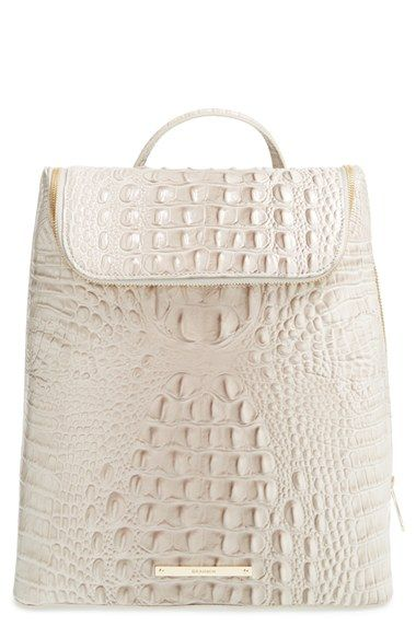 f6a1a0e9d9aa Brahmin  Darcy  Croc Embossed Leather Backpack available at  Nordstrom