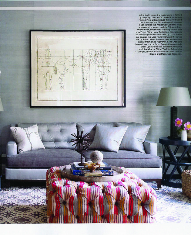 Thom Filicia Featured In Elle Decor June 2013 Issue. Thom Designs A  Connecticut Retreat With Pieces From His Vanguard Furniture Collection.