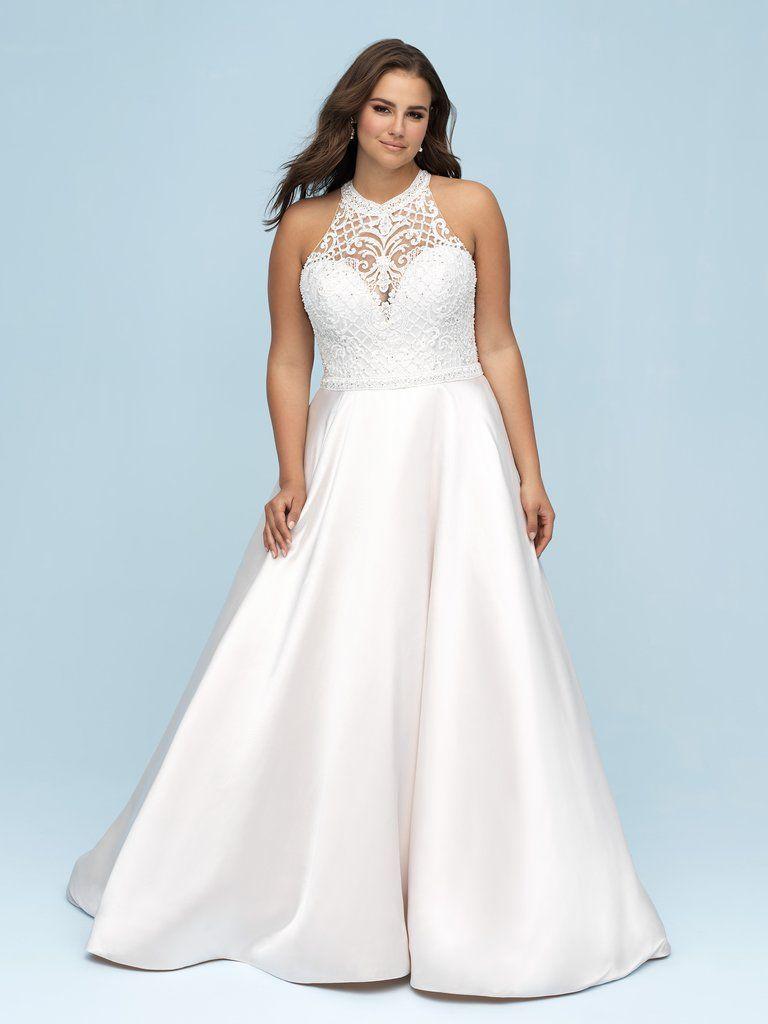 Allure W442 Womens Wedding Dresses Allure Bridal Plus Size Wedding Gowns [ 1024 x 768 Pixel ]