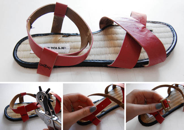 8b9d702e913a9 diy sandals using upcycled leather. DIY To Try  (Re)Make Your Own Sandals!