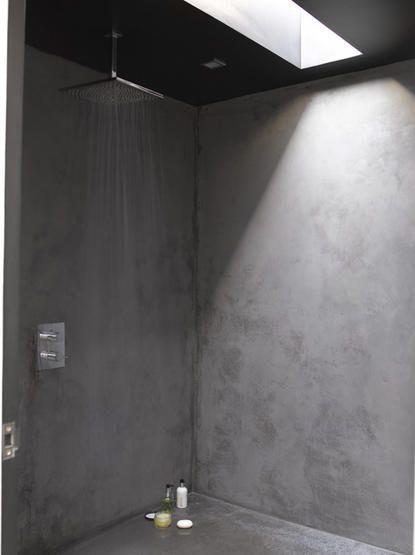 shower2 Concrete shower, Concrete bathroom, Polished plaster