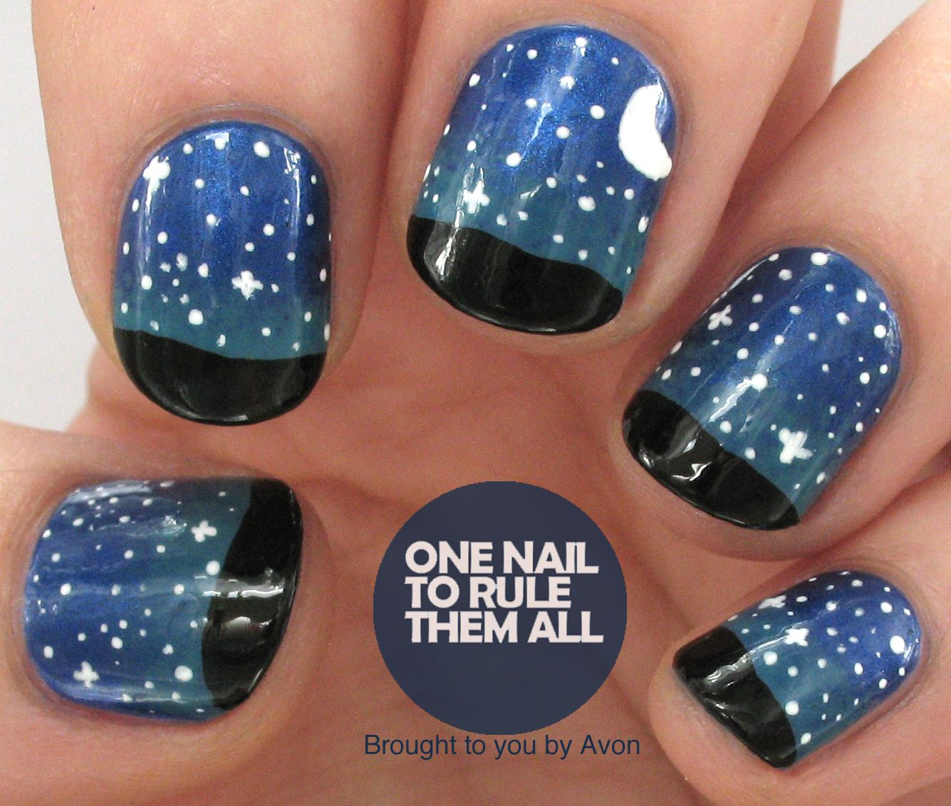 Nailvengers Assemble! Gradients - Night Time Sky for Avon (One Nail ...