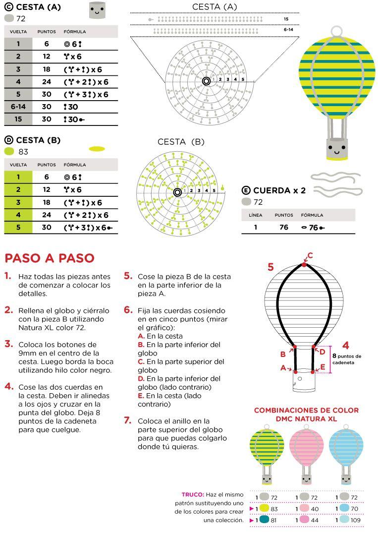 El Club del Patrón: Globo de amigurumi | Amigurumi | Pinterest ...