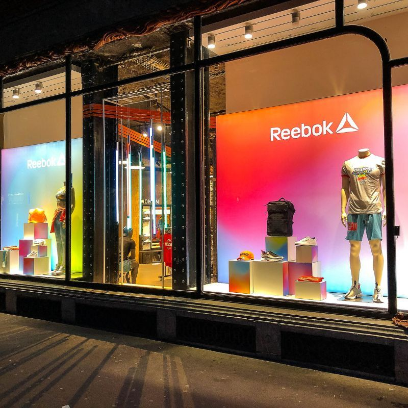 Reebok store at La Salle de SPort in Paris SS19 windows