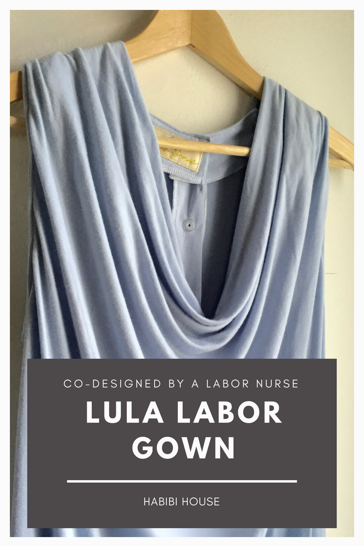 www.etsy.com/shop/habibihouse Labor and delivery gown co-designed by ...