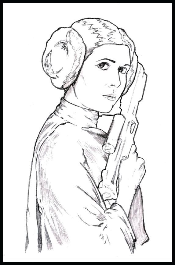 awesome princess leia coloring page new project by on kids