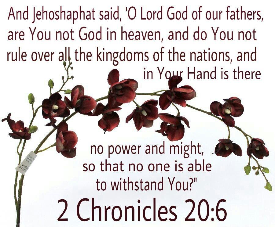 2 Chronicles 20:6   Bible Verses   Scripture verses, Bible pictures