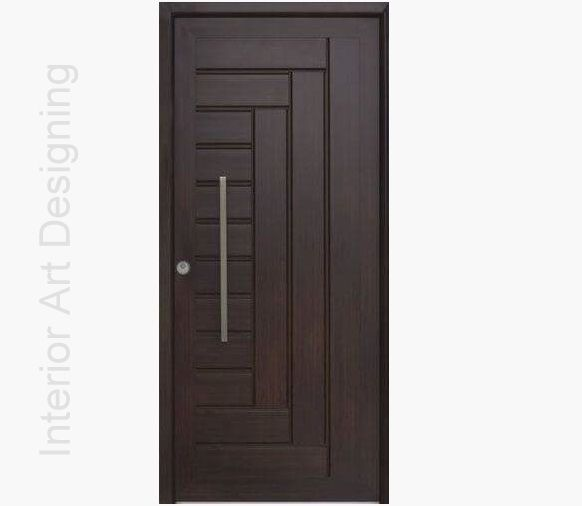 Dark polish wood door design id745 modern entry door for Modern entrance door design