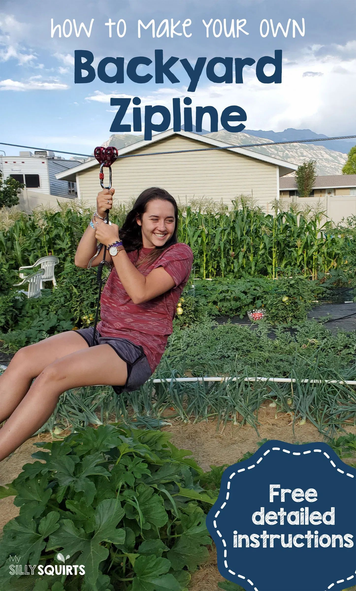How to build your own amazing backyard zip line   My Silly ...
