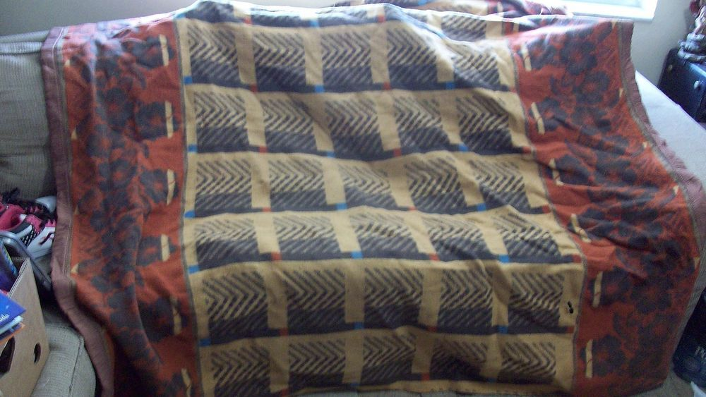 Vintage Wool Indian Blanket 70