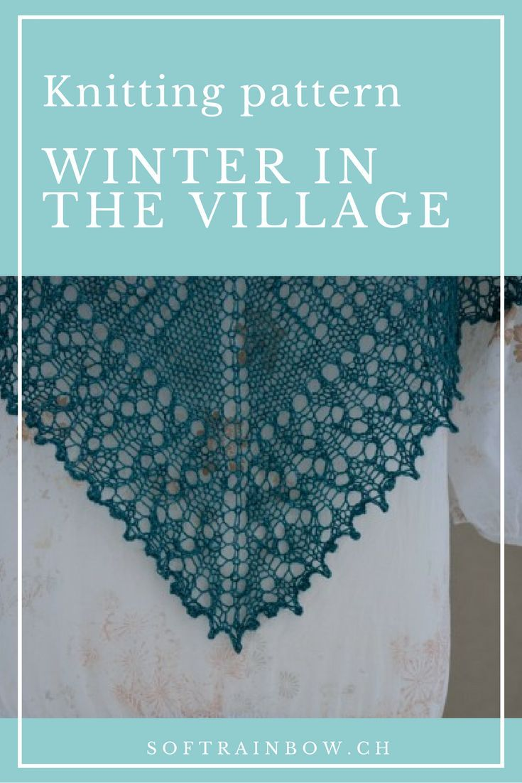 Winter in the Village | Pattern design, Knitting patterns and Shawl