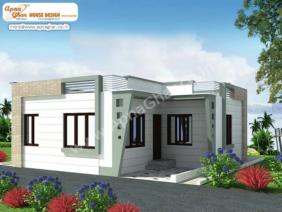 Elevations of single storey residential buildings google - Single story 4 bedroom modern house plans ...