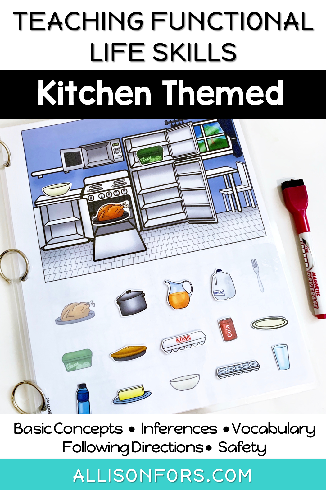 Life Skills Interactive Book Kitchen With Images