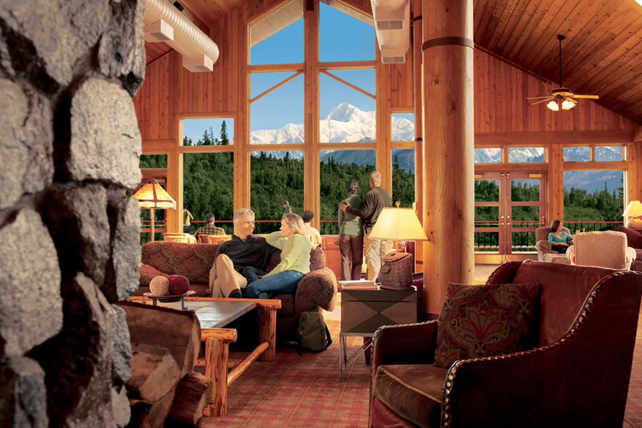 Stay at this wilderness lodge near Denali National Park for great accommodations and views of Mt. McKinley.