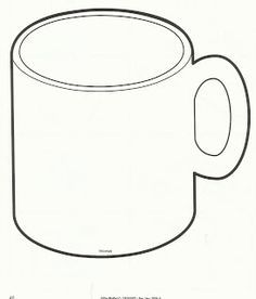 Mug Outline , Coffee Mug Clipart , Hot Chocolate Mug