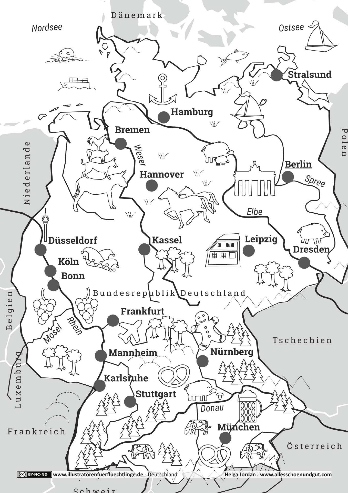 deutschland bundesländer karte pdf Deutschlandkarte | Deutschland, Deutschlandkarte, Erdkunde