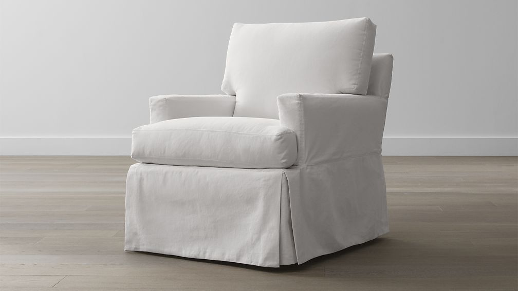 Willow Modern Slipcovered Chair Reviews Crate And Barrel Slipcovers For Chairs Slipcovers Furniture Slipcovers