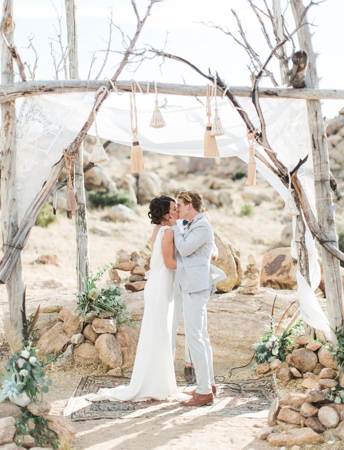 Eclectic Moroccan Joshua Tree Glamping Wedding