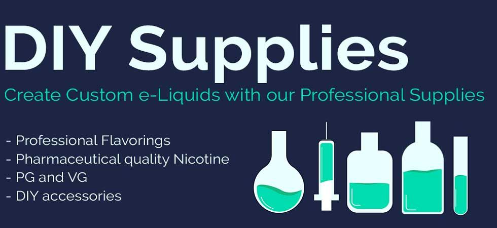Diy vape supplies mix eliquid flavors vape juice