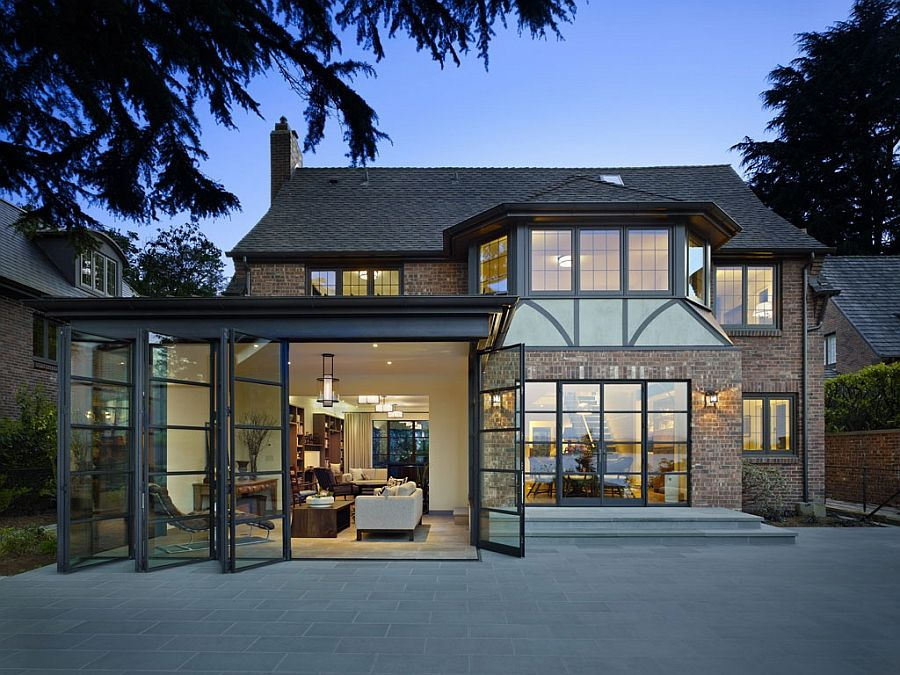Classic tudor house in Seattle with a modern renovation for book lovers -  Decoist