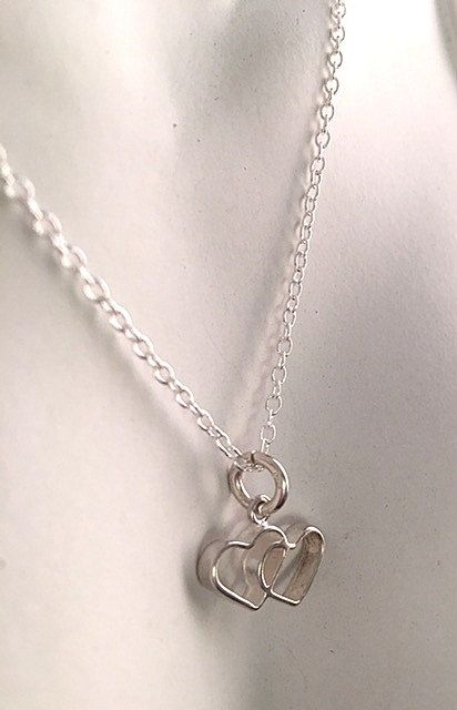 Small Love Hearts Links Connectors 25 x Antique Silver Heart Charms