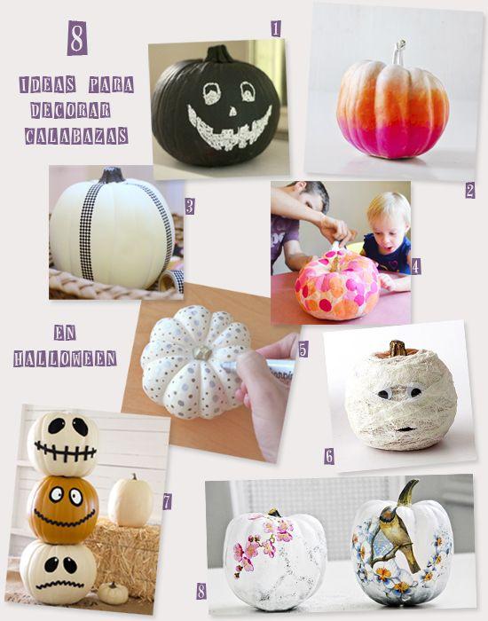 DIY - 8 ideas para Decorar Calabazas + Sorteo | Pinterest | Sorteo ...