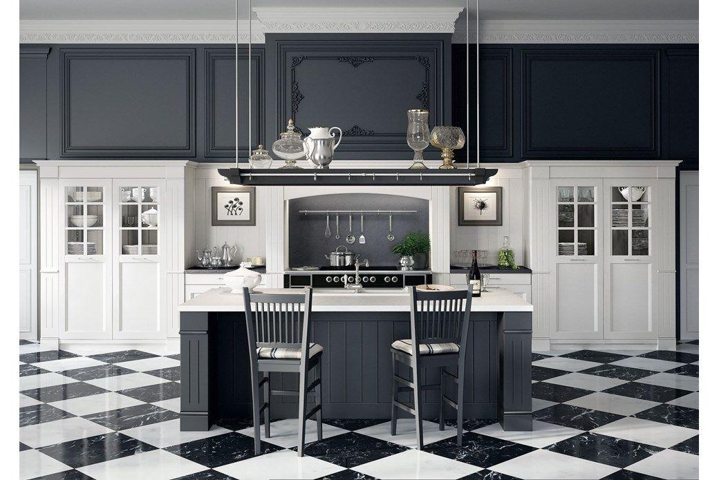 Cucina in laccato opaco English Mood di Minacciolo #Minacciolo ...