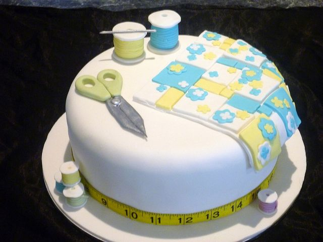 Quilting Themed Cake Sewing Cake Quilted Cake Cake