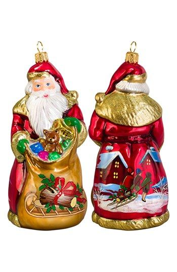 Joy To The World Collectibles Santa With Gift Bag Ornament Nordstrom Christmas Ornaments Ornaments Traditional Christmas Ornaments