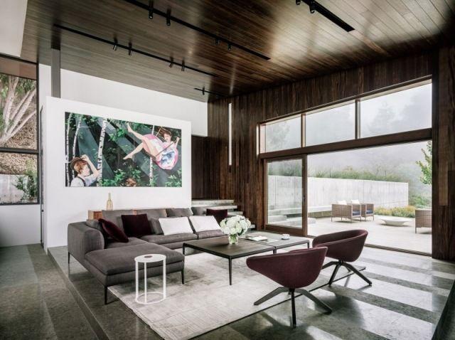 trendige Wohnideen-wohnzimmer schwarze kaffeetische-teppichboden - wohnideen für wohnzimmer