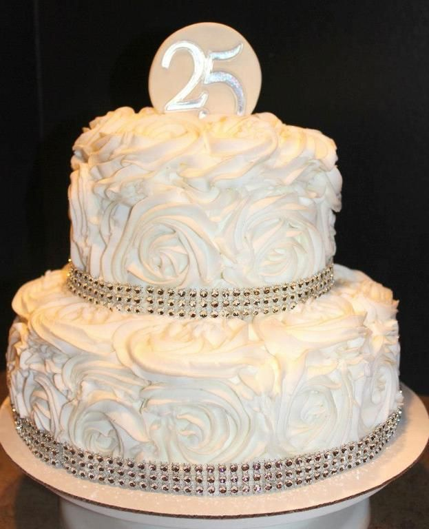 Cake Designs For 25th Anniversary : 25th wedding anniversary quotes Simple 25th Wedding ...