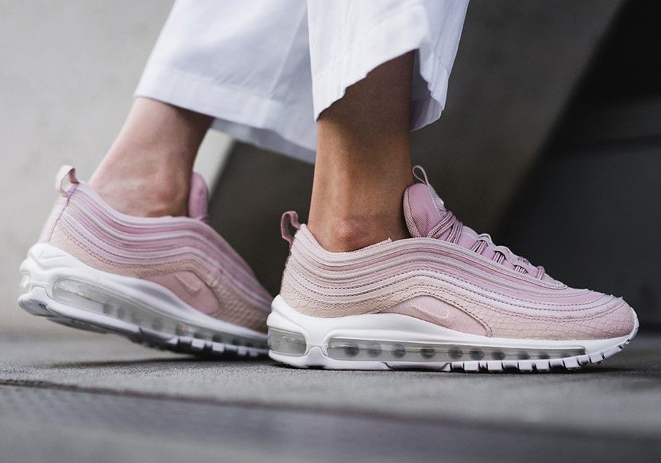cheaper 332d9 886b4 Nike Air Max 97 PRM Pink Snakeskin   917646-600   160 Release Date  August  4, 2017 Size Run  Womens Color  SILT RED SILT RED-WHITE-BLACK Style Code   917646- ...