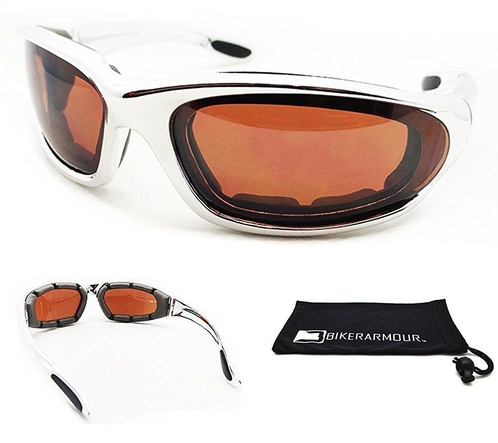 102edec793d37 Chrome Motorcycle HD Vision Sunglasses for Men. Free Microfiber cleaning  case included. Anaconda Chrome HD Price   11.99